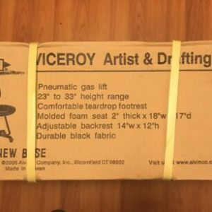 Alvin DC999-40 Viceroy Artist & Drafting Chair Black New Free Shipping